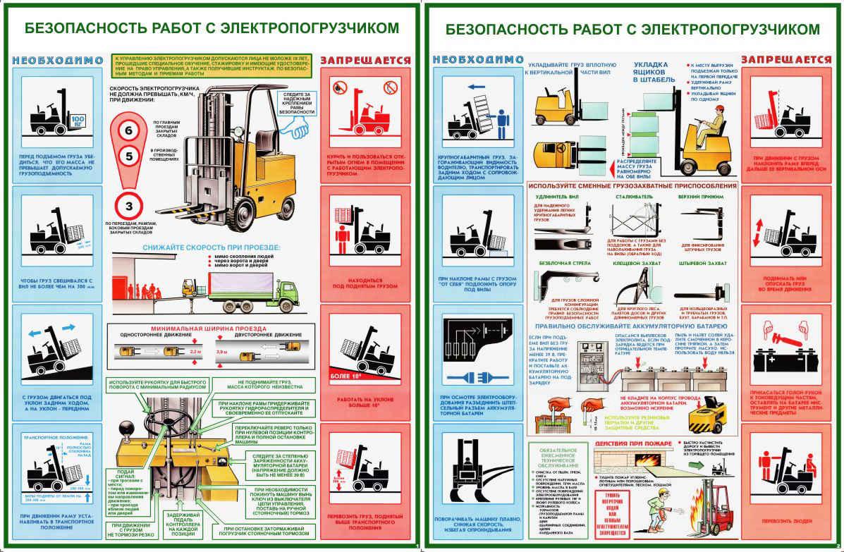 Безопасность работ с электропогрузчиками скачать